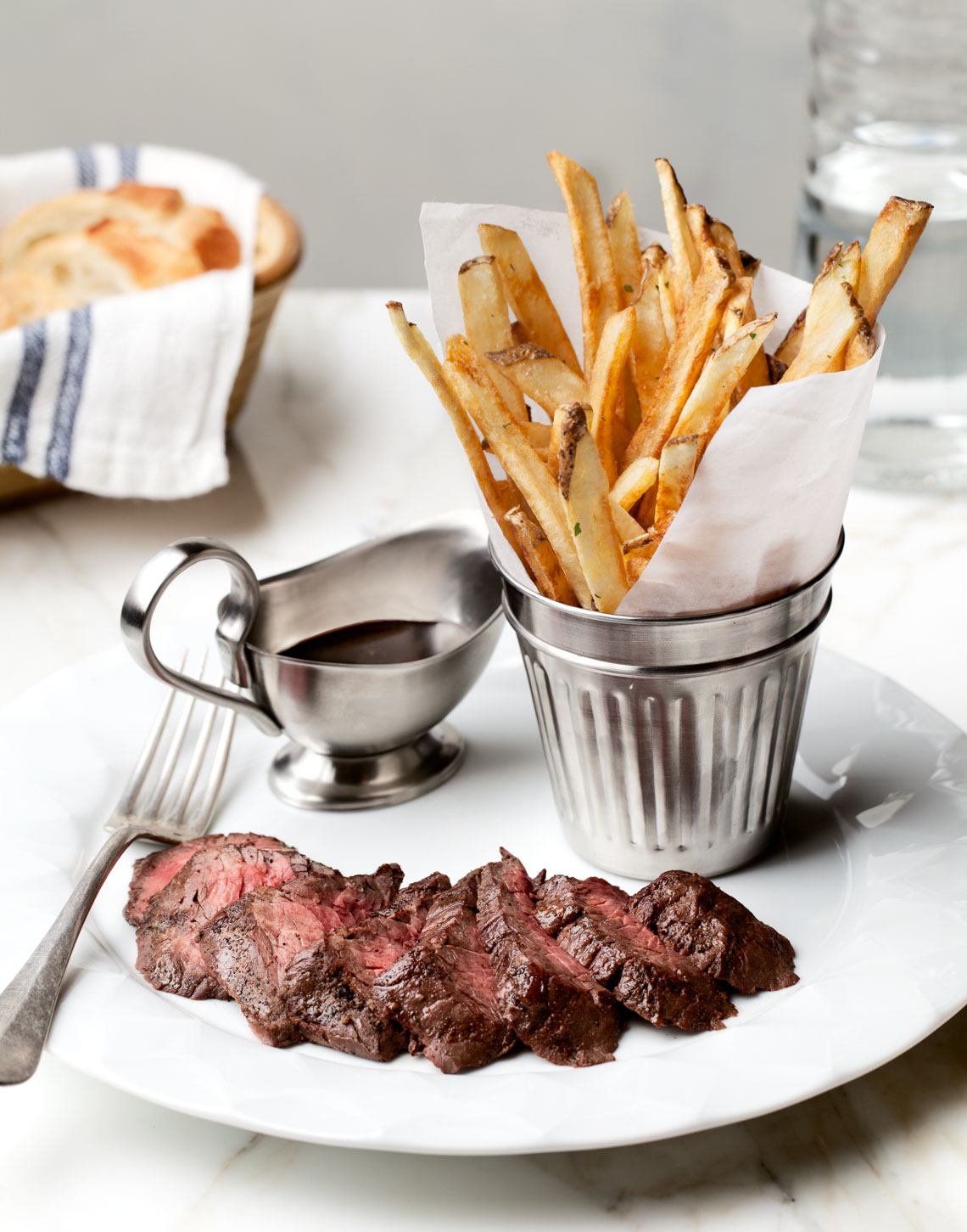 Bardot / Steak Frites (no butter on steak, fries in cup)